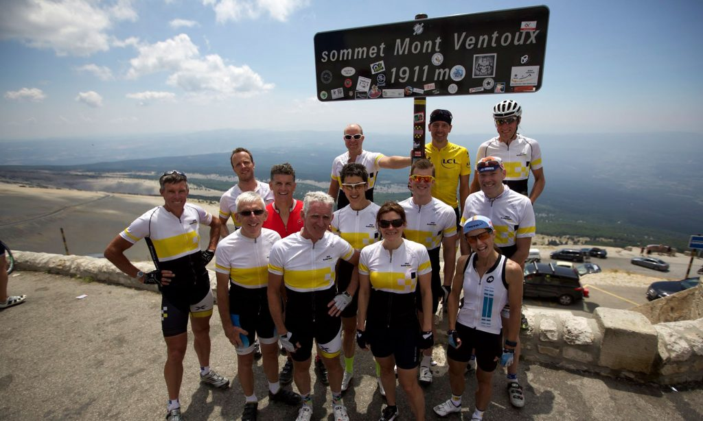 Phil Anderson at the Tour de France and Mount Ventoux with Phil Anderson Cycling Tours