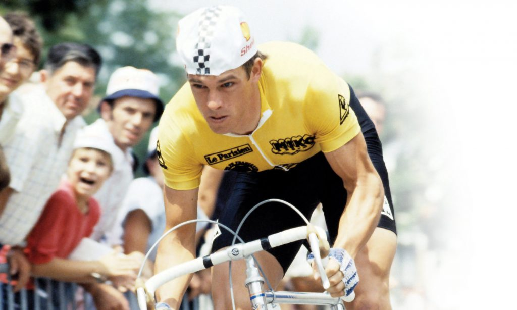 Phil Anderson cycles at the Tour de France on a cycling holiday with Phil Anderson Cycling Tours