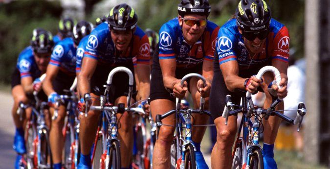 Phil Anderson group riding Cycling tours